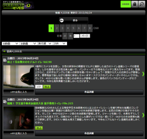 Mobile site of PEEPING-EYES 2