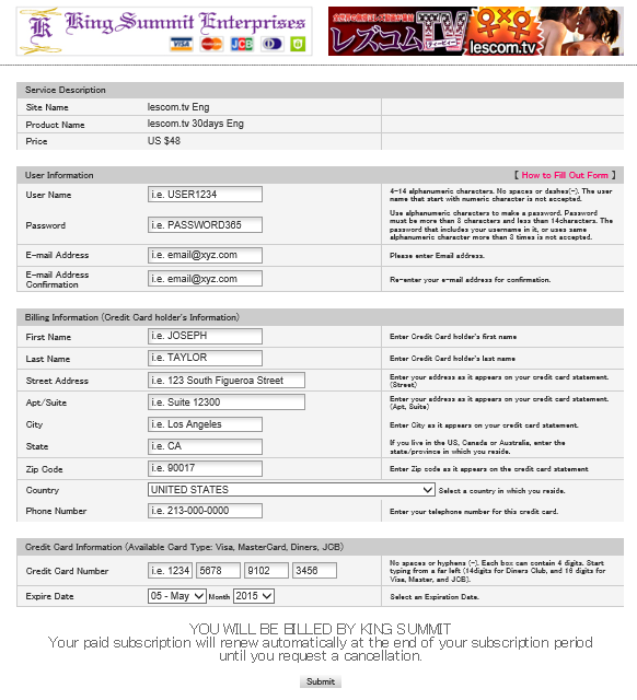 LescomTV join page 2