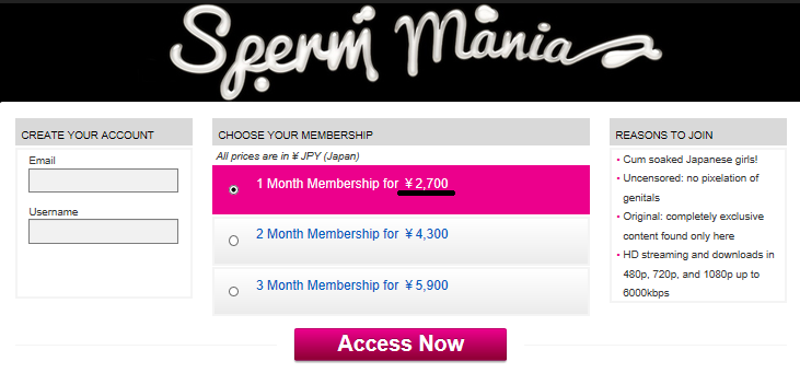 How to join Sperm mania at a reduced price 3