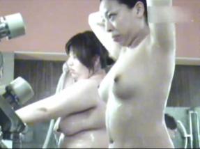 I show you free bath voyeur video of big tits girls from Punyo in the public bath