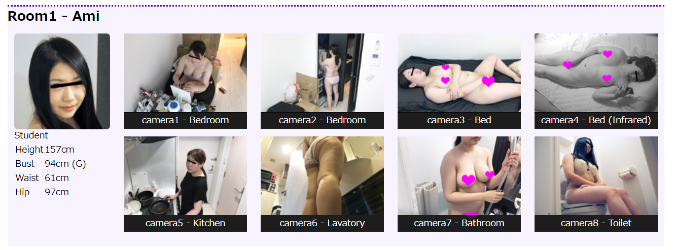 The NOZOX site looks like this. With so many hidden cameras, you can see the girls' private moments