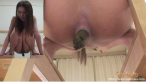 Free JAV poop video of Unkotare ⑥ 24-year-old beautiful shaved pussy girl Yuko Kano's poop