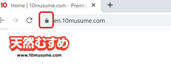 Evidence image that the 10musume is encrypted