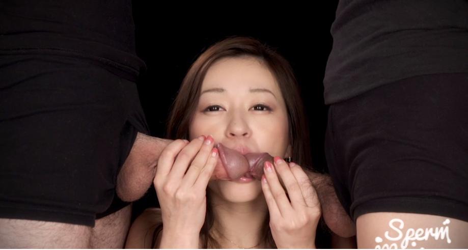 栗原萌香のフェラチオ Sperm maniaの無修正動画