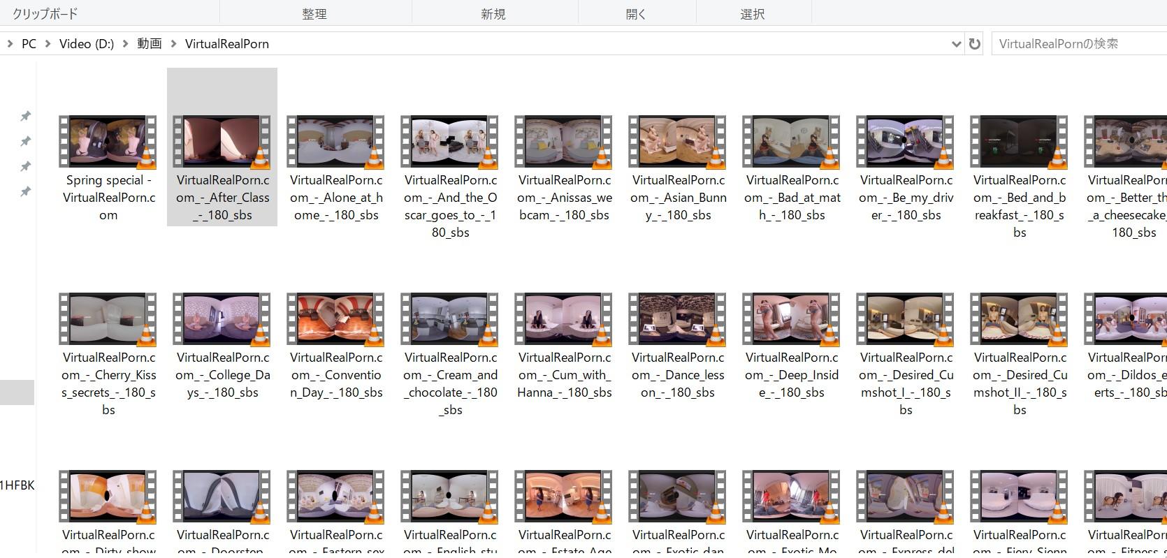 私がバーチャルリアルポルノの会員だったときにダウンロードしたVRエロ動画の一部