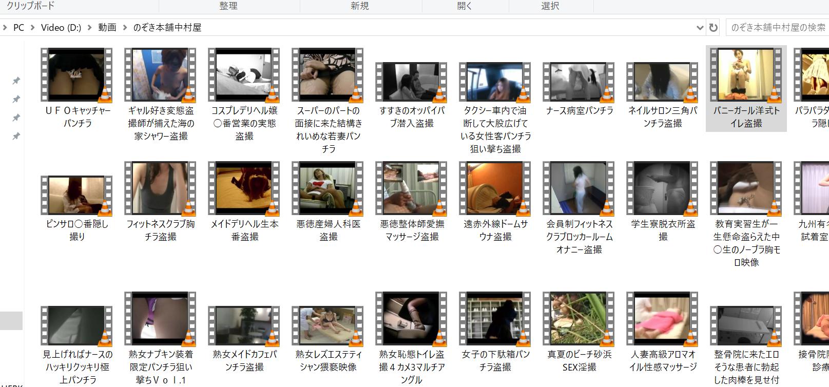 私がのぞき本舗中村屋からダウンロードした無修正盗撮動画の一部