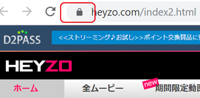 HEYZOが暗号化されている証拠画像