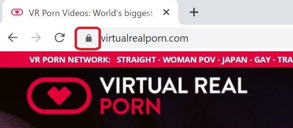 バーチャルリアルポルノが暗号化されている証拠画像