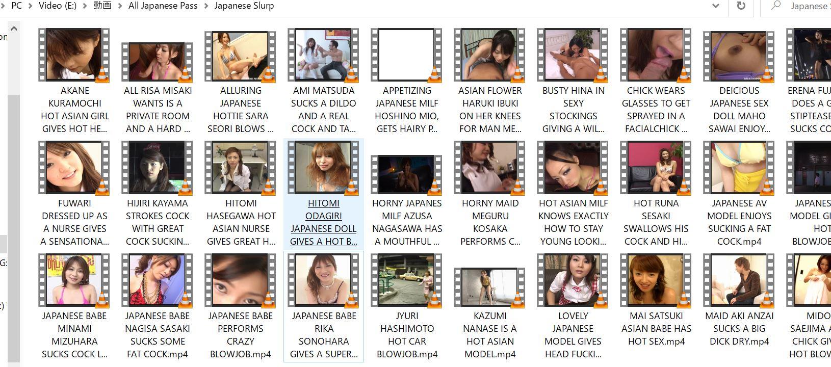 私がJapanese Slurpからダウンロードした無修正フェラチオ動画の一部