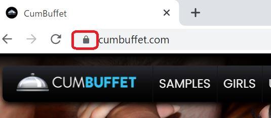 カムビュッフェが暗号化されている証拠画像